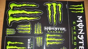 how to get free monster energy stickers youtube