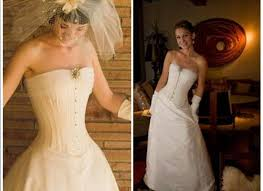 wedding corset white wedding dress with corset top with an edgy feel