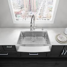 shop vigo 36 0 in x 22 25 in premium satin single basin stainless