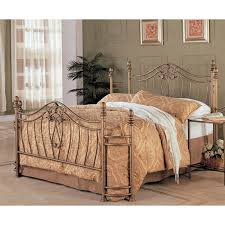 golden gilded iron california king bed frame with ornate brown