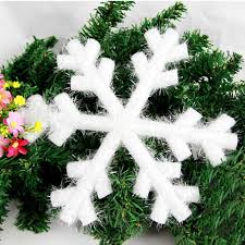 Decoration From Christmas by Christmas Hanging Snowflakes Ceiling Party Ornaments White Glitter