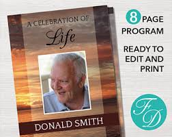 Where To Print Funeral Programs Amazing And Elegant Funeral Programs Modern Design Collection