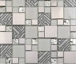 Stainless Steel Tiles For Kitchen Backsplash Glass Mosaic Tile Kitchen Backsplash Ssmt112 Glossy Glass Tile
