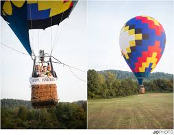 knoxville photographers hot air balloon wedding just married knoxville tn wedding