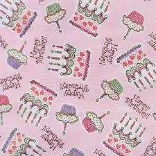 1 yard jo cotton fabric pink birthday cupcakes 43 110cm wide