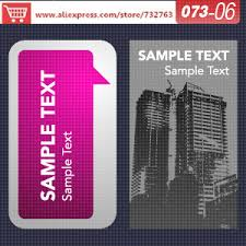 Create Business Card Free Aliexpress Com Buy 0073 06 Business Card Template For Standard