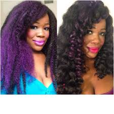 crochet marley hair crochet braids with purple highlights creative ajay