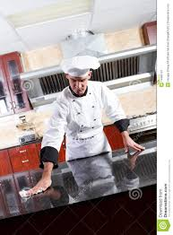 chef cleaning kitchen stock image image 14985191