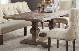 Acme Dining Room Sets by Inverness Parker Salvage Oak Double Pedestal Dining Table