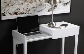 white compact desk displaying its u201chocus pocus u201d ideas for home