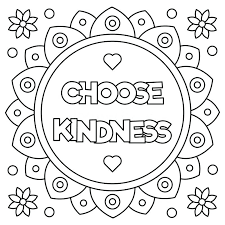 Coloring Pages On Kindness | kindness coloring pages world day random acts of sheets in kindness