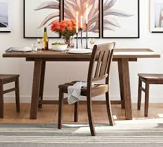 pine dining room table bartol reclaimed pine dining table pottery barn