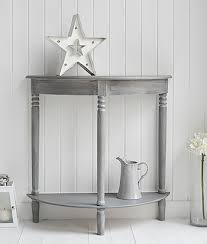 small half moon console table with drawer british colonial grey furniture half moon console table for your