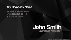 Best Business Card Designs Psd Stylish Business Card Template Psd Psdgraphics