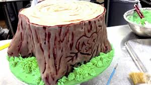 How To Build A Stump by The Tree Stump Cake Youtube