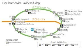 Shinagawa Station Map Tokyo Taxi Center
