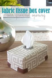diy fabric tissue box cover with grommet opening make it and