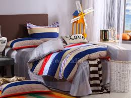 Nautical Bed Sets Best Chic Blue Striped Nautical Comforter Sets For Boys Ogb080630