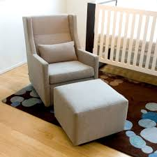 baby nursery chic home furniture design of blue and white rocking