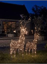 Outdoor Christmas Deer With Lights Outdoor Christmas Decorations U0026 Lights Large Outdoor Reindeer