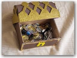 how to make a pirate treasure chest out of a shoebox arg look at