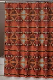 Western Drapery Fabric Santa Fe Southwestern Shower Curtain Carson U0027s Room Pinterest