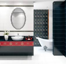 chocolate brown bathroom ideas beautiful round wal mirror with simple frame for modern bathroom