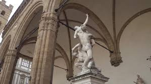 cu statue of as part of ornament of cathedral venice