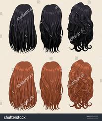 Hair Types by Vector Illustration Different Hair Types Stock Vector 336225050