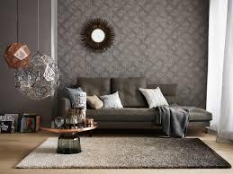 wohnzimmer steintapete raumbild schöner wohnen tapete 943671 industrial style chic