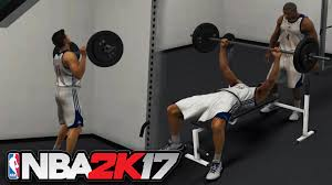 nba 2k17 how to workout and boost upgrade lift weights bench