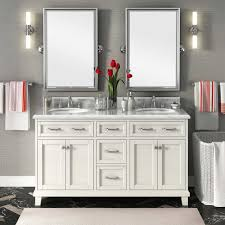 White Double Sink Bathroom Vanities by White And Gray Master Bathrooms Modern Double Sink Bathroom