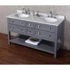 Vanity In Italian Virtu Usa Winterfell 60 In Double Vanity In White With Marble