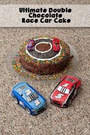 ultimate double chocolate race car cake
