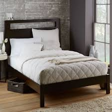 West Elm Bedroom Furniture by Tall Wood Cutout Bed Chocolate West Elm
