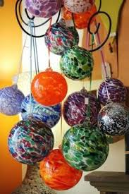 blown globes aka witch balls or friendship balls to