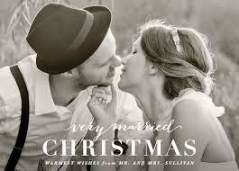 newlywed christmas cards hooray creative