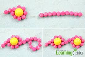 flower bead necklace images How to make candy color beaded flower necklace with yellow and hot jpg