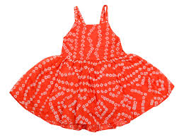 orange bandhani silk hummingbird baby dress dresses for
