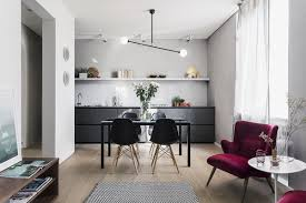 modern dining room designs combined with scandinavian style brings