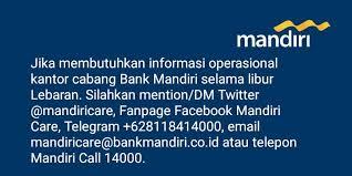 email mandiri mandiri care info bank mandiri facebook