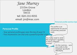 section contact details and personal profile write resume intended