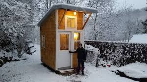Winter House Iowa Boy Builds Tiny House In His Backyard Mnn Mother Nature