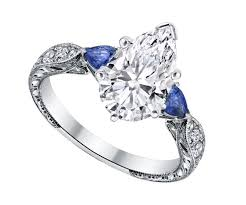 Pear Shaped Wedding Ring by Engagement Ring Pear Shape Diamond Engagement Ring Blue Sapphire