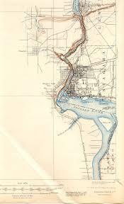Niagara Falls Canada Map by Niagara Falls Ny Ot Quadrangle