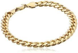 gold tone chain link bracelet images Doublebeez jewelry men 39 s yellow gold tone 9mm cuban jpg
