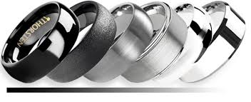 silver coloured rings images Tungsten color what color is tungsten jpg