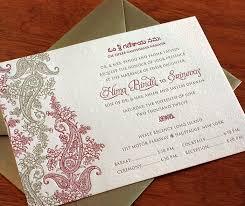 south asian wedding invitations indian paisley wedding invitation gallery hima invitations by