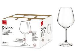 bicchieri bormioli vino bormioli calice vino rosso divino 53 cl x 6