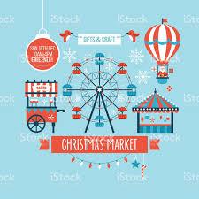 christmas market and holiday fair poster design stock vector art